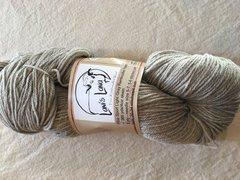 Light Gray Sport Weight Rambouillet Wool Yarn - 4 oz skein