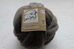 Medium Gray Rambouillet Wool Roving (Combed Top) - 4 oz bump
