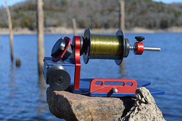 Fishon spooler pro portable fishong line spooling station for Professional fishing line spooler