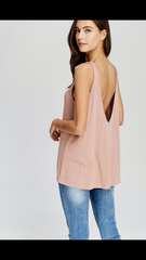 Ribbed Open Back Tank