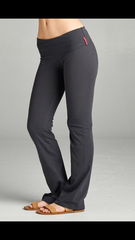 Solid Wide Waistband Active Pants