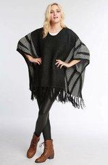 Chevron Kimono Style Poncho w/ Tassel