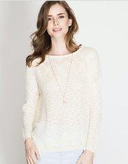 Lightweight cream sweater