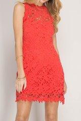 Crochet Open Back Dress