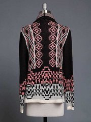 Multi-Colored Sweater Cardigan