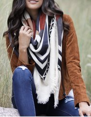 Tribal Blanket Scarf-Grace and Lace