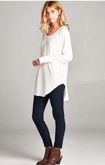 Oversized Ribbed Thermal Shirt