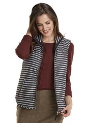 Lightweight Striped Quilted Vest