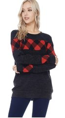 Cozy Black with Buffalo Plaid Top