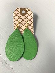 Medium Teardrop Leather Earrings