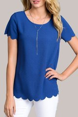 Scalloped Edged Top