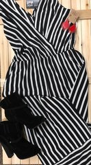 Black and White striped jumpsuit/romper