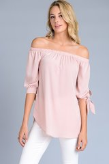 BlushOff Shoulder Tunic