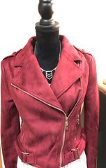 Burgundy Fitted Jacket with Gold Detail