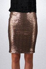 Midi Length Sequin Skirt