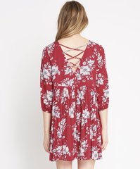 Red Floral Printed Dress