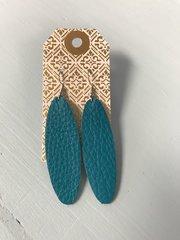 Medium Oval Leather Earrings