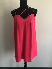 Pink Strappy Criss-Cross Dress