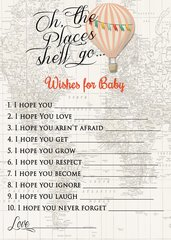 Wishes for Baby Hot Air Balloon Girl