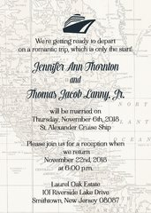 Cruiseship Wedding Invitation