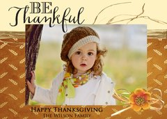 Be Thankful Thanksgiving Photo Card