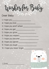 Wishes for Baby Polar Bear