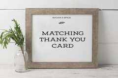Matching Thank You Card