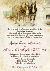 Holiday Sleigh Wedding Invitation