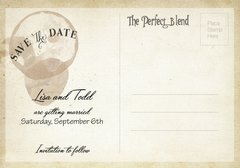 The Perfect Blend Save the Date Post Card