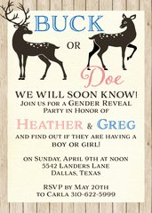Buck or Doe Gender Reveal Shower