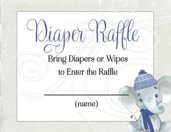 Diaper Raffle Winter Elephant