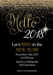 Hello New Years Eve Party Invitation