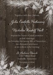 Snow Country Wedding Invitation