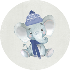 Winter Elephant Stickers