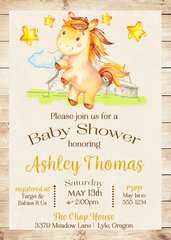 Horse Baby Shower Invitation