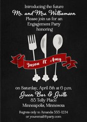 Flatware Engagement Dinner Party Invitation