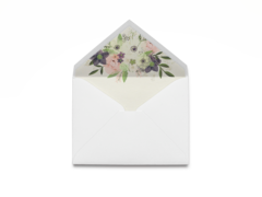 Watercolor Floral Envelope