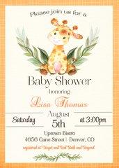 Giraffe Baby Shower Invitation