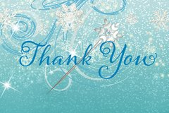 Frozen Thank You Card