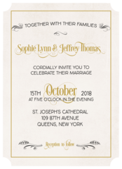 Luminous Affair Wedding Invitation