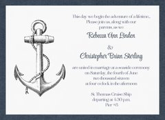 Tying the Knot Nautical Wedding Invitation