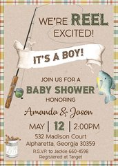 We're Reel Excited Baby Shower Invitation