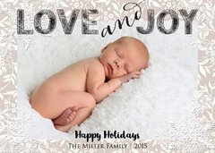 Love and Joy Baby Announcement