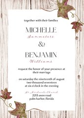 Fall Ivy Wedding Invitation