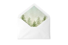 Winter Pinetree Envelope