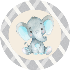 Elephant Blue Stickers