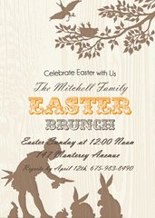Easter Brunch Invitation Boy