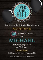 50th Over the Hill Birthday Invitation