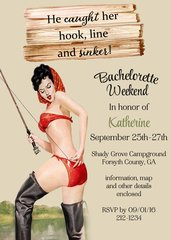 Fishing Bachelorette Weekend Invitation