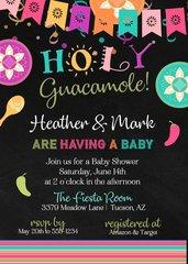 Holy Guacamole Baby Shower Invitation